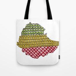Patterns on Ethiopia Tote Bag