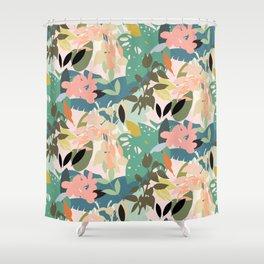 Tropicana Pastel Shower Curtain