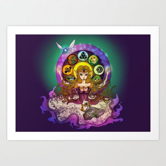 Mystic Zelda Art Print