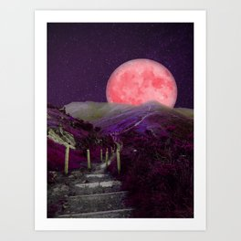 The Moon Is This Way 2 Art Print