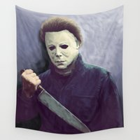 michael scott Wall Tapestries featuring Michael  by naidl