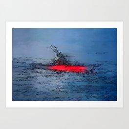 Wilderness Kayaker Art Print