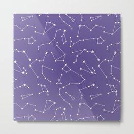 violet constellation Metal Print