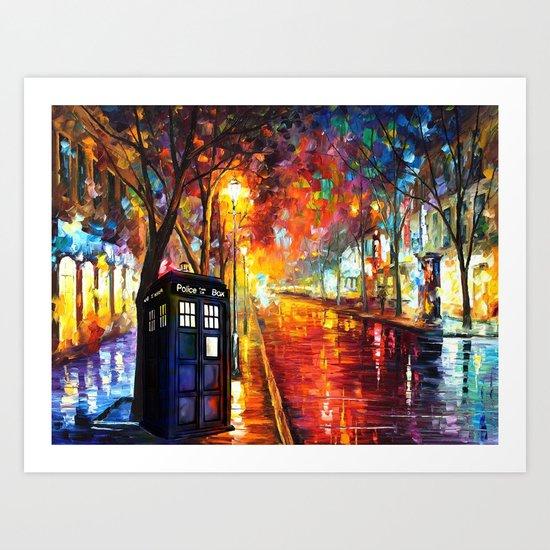 Tardis Full Color Art Print