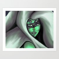 malachite Art Prints featuring Malachite by All Out of Mercy