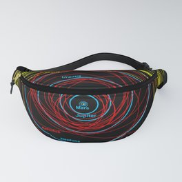 Map of the Solar System Fanny Pack