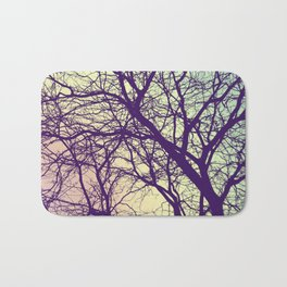 A Network of Tree Branches Bath Mat
