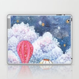 Rise Above | Night Sky Hot Air Balloon Illustration | Watercolor | Galaxy Laptop & iPad Skin