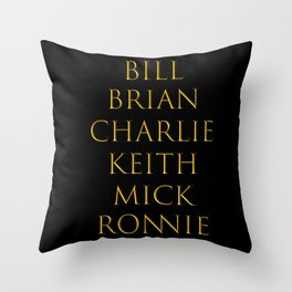 Bandmates XIV (Stone) Throw Pillow