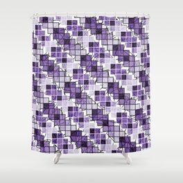 Purple | Squares Shower Curtain