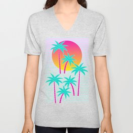 Hello Miami Sunset Unisex V-Neck