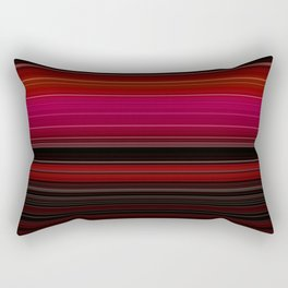 Rich Red Wine Striped Pattern Rectangular Pillow