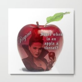 Since when is an apple a threat? Metal Print