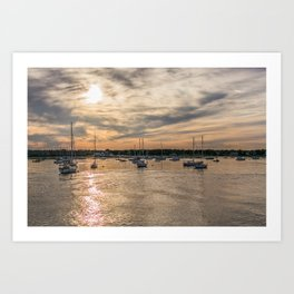 Hyannis sunset Art Print
