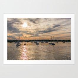 Hyannis sunset Art Print
