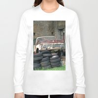 bmw Long Sleeve T-shirts featuring Old BMW Wreck by Premium