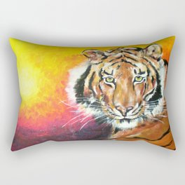 Awaiting the Darkness of Night (Male Tiger) Rectangular Pillow