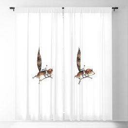 Skydiver Squirrel - Skydiving Adventure Blackout Curtain
