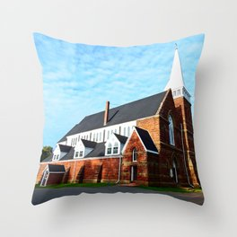 St. Paul's Church Sturgeon PEI Throw Pillow