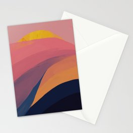 Colorful Mountain Scape Stationery Cards