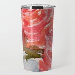 Watercolor Rosettes Travel Mug