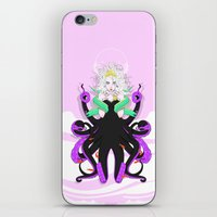 ursula iPhone & iPod Skins featuring Ursula by Sergio Saucedo
