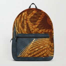 Mandala of Radiant Abundance (grey-gold) Backpack