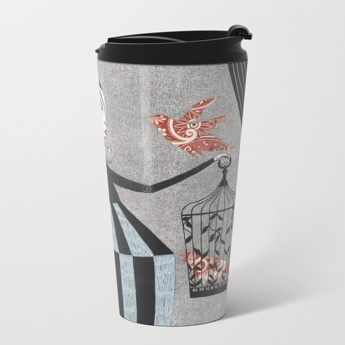 The Bird Act Metal Travel Mug