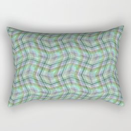 Overlapping lines in turquoise. Rectangular Pillow