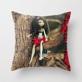 Fairy Scout in my Garden Throw Pillow
