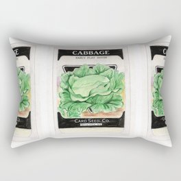 Cabbage Seed Packet Rectangular Pillow