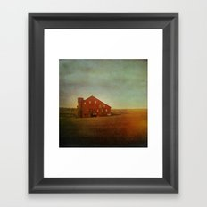 Red Barn in Autumn Framed Art Print