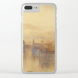"J.M.W. Turner ""Lucerne from the Lake"" Clear iPhone Case"