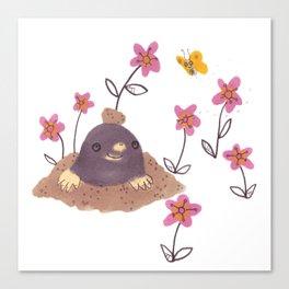 Hello Mole! Canvas Print