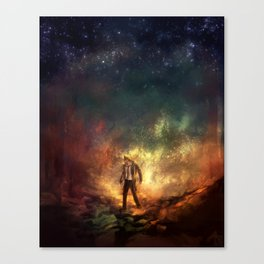 Carrying Hell Canvas Print