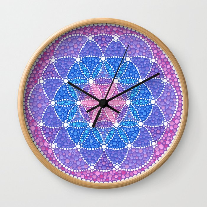 Starry Flower of Life Wall Clock