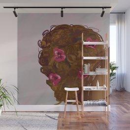 Pink Pansy Gloss Wall Mural
