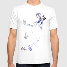 unª sr.ª bailando corriendo SMALL White Mens Fitted Tee