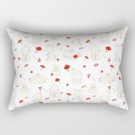 Bunnies with Mushrooms Rectangular Pillow