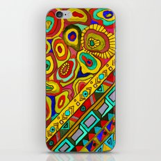 An abstract textured pattern in Oriental style 2 . iPhone & iPod Skin