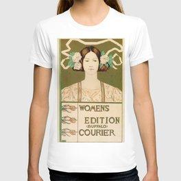 1895 Buffalo Courier for women  New York T-shirt