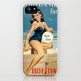 Vintage Travel Morecambe iPhone Case