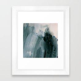 greyish brush strokes Framed Art Print