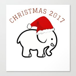 White Elephant Christmas 2017 Canvas Print
