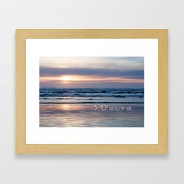 Beach Glow Soothes Soul Framed Art Print