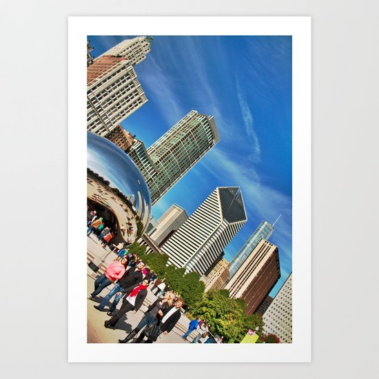 Chicago Bean in HDR Art Print