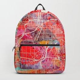 Grand Rapids map Michigan painting 2 Backpack