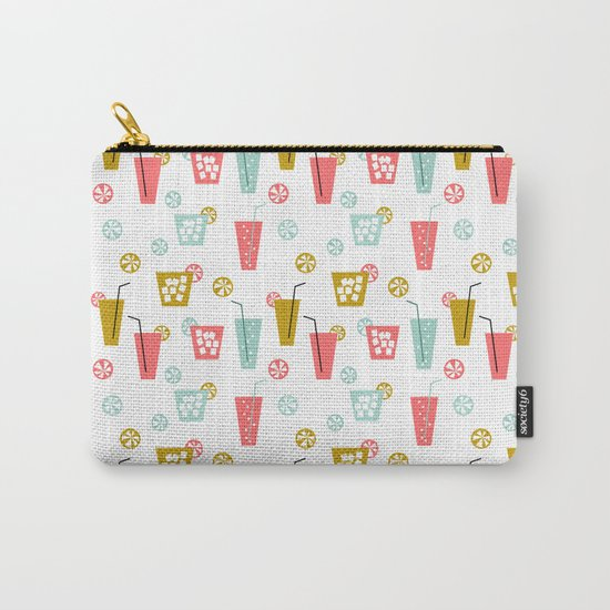 Happy Hour - Drinks cocktails art design illustration modern bright happy bar tiki hawaii island  Carry-All Pouch