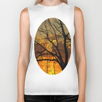 jewish Biker Tanks featuring Sunset Tree by Brown Eyed Lady