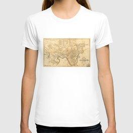 Map of Cambridge, Massachusetts (1857) T-shirt